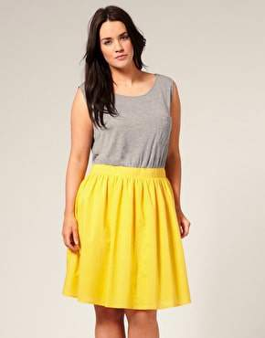 ASOS Curve Color Block Full Skirt Dress