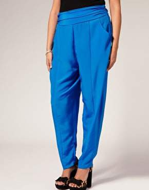 Asos CURVE Cobalt Pleat Front Harem Pants