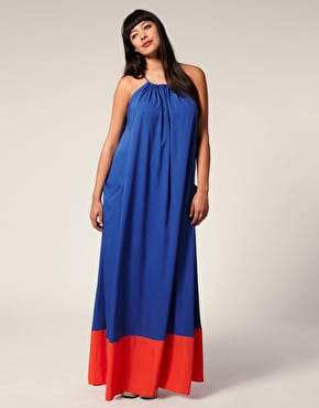 Asos Curve Color Block Maxi