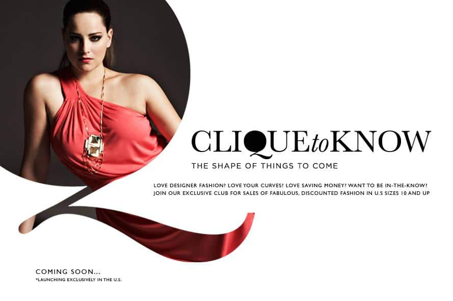 Plus size sample sale site: Clique to Know