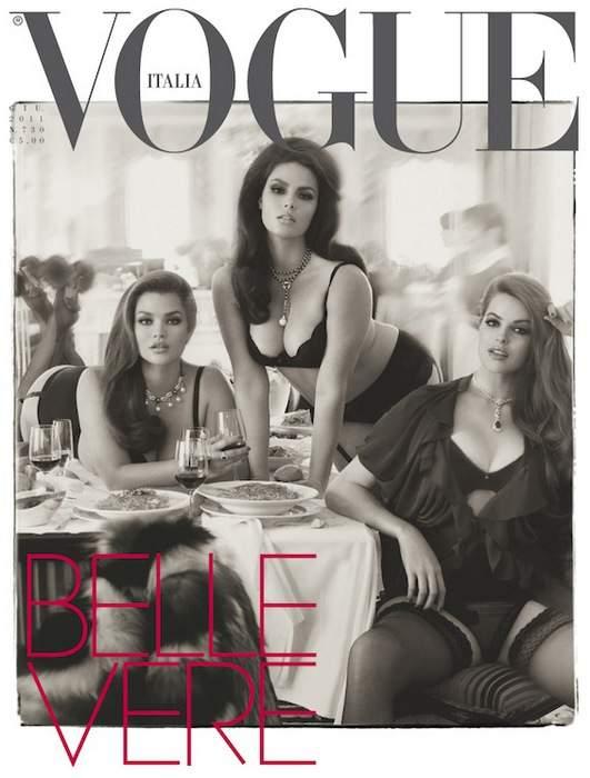 Vogue Italia Vogue Plus Size Fashion Shoot featuring Tara Lynn, Robyn Lawley, Candice Huffine