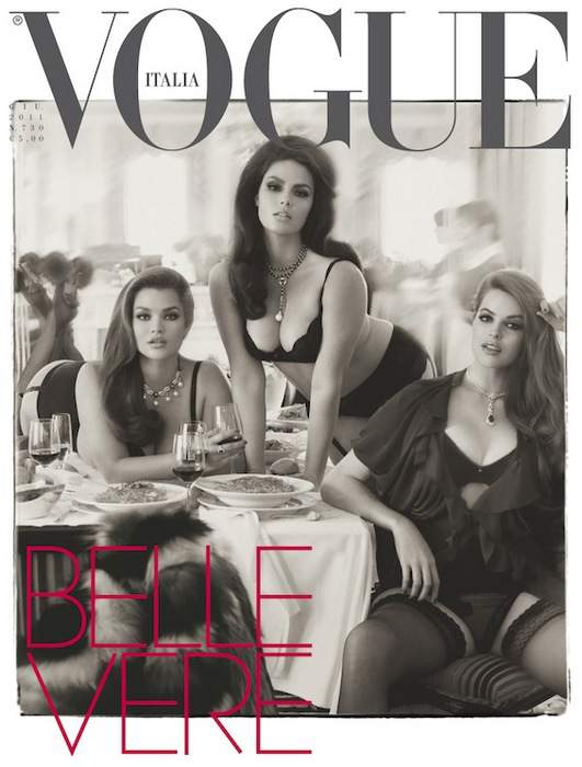 Plus Size Models on Vogue Italia