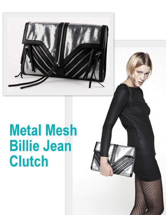 Elly Clay Metal Mesh Billie Jean Clutch