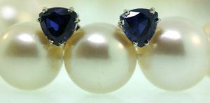 Michael Greene Sapphire Earrings