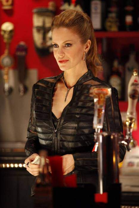 Pam from True Blood in Vinyl Jacket