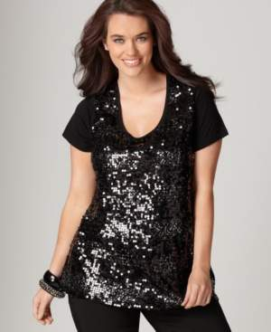 DKNY Jeans Sequined Tee
