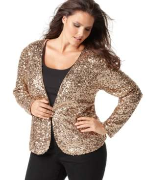INC Sequined Jacket