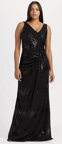 David Meister Knotted Sequins dress