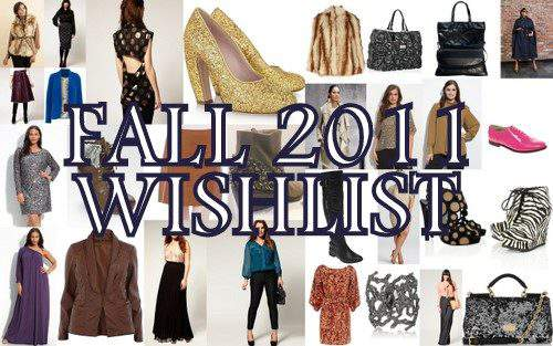 The Curvy Fashionista's Fall Wishlist