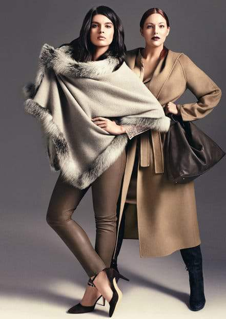 Marina Rinaldi Fall 2012 featuring Crystal Renn and Kate Dillon