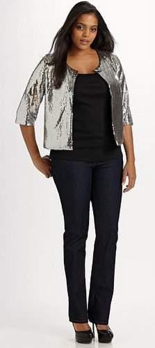 Prairie New York Cropped Sequin Jacket