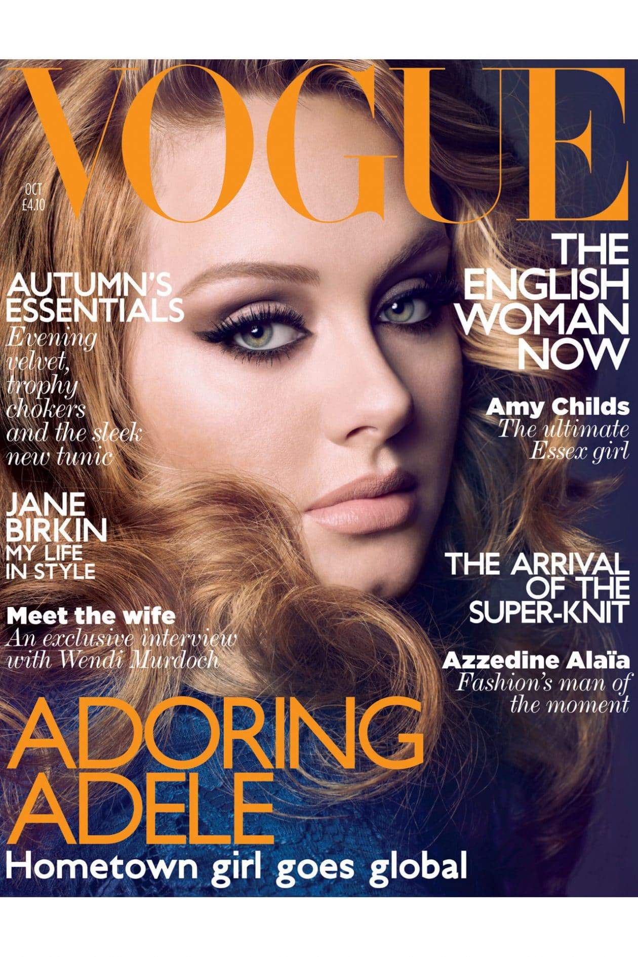 Adele Covers October issue of Vogue UK
