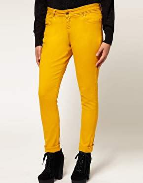 Plus Size 2011 Fall Trend: Bold Colors- ASOS Curve Mustard Skinny Jean
