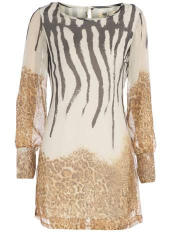 Plus Size Fall 2011 Trends Spotlight- Animal Prints: Dorothy Perkins Animal Chiffon Dress