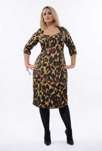 Plus Size Fall 2011 Trends Spotlight Animal Prints: Anna Scholz Corset Leopard Dress