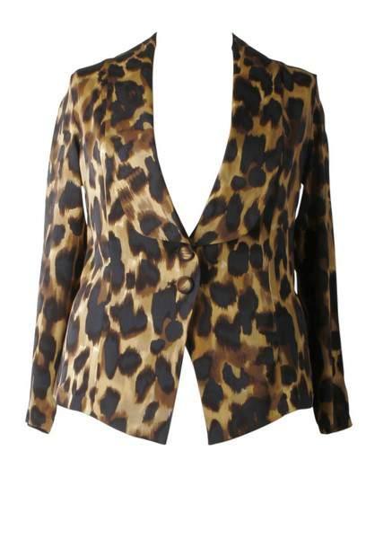 Plus Size Fall 2011 Trends Spotlight Animal Prints: Anna Scholz Double Silk Blazer