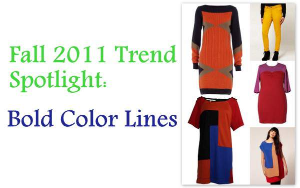 Fall 2011 Plus Size Trend Spotlight- Bold Color Lines