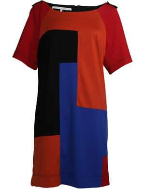 Plus Size 2011 Fall Trend: Bold Colors- MAT Fashion Colorblock dress Navabi