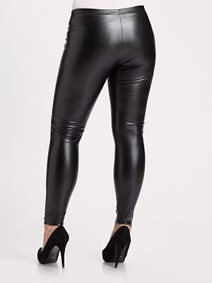 Marina Rinaldi Leather Leggings