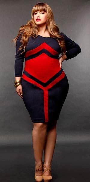 Plus Size 2011 Fall Trend: Bold Colors- Monif C Emme Dress