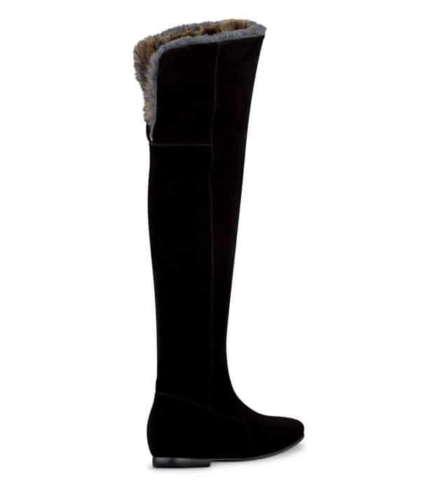 Wide Width and Wide Calf Boots: Duo Boots Tiber Black Suede