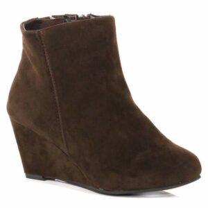 Wide Width and Wide Calf Boots: EVANS Brown Bootie