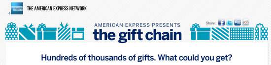 Introducing The Gift Chain by American Express