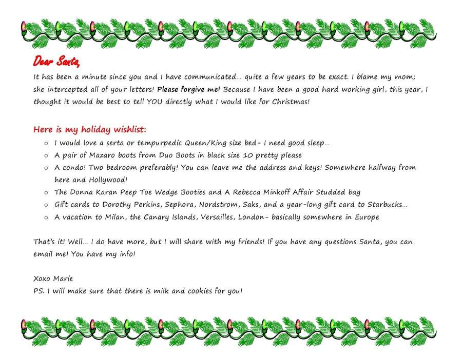 Dear Santa, I have been Good… I think…