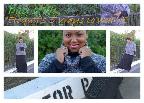 Eloquii's 5 Ways to Wear it Sweater Giveaway