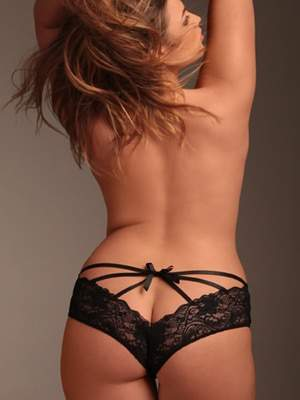 Plus Size Lingerie for Valentines Day: Hips and Curves Caged Back Panty
