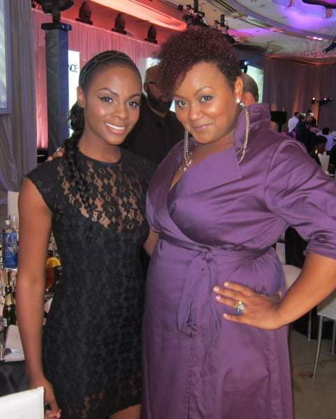 The Curvy Fashionista with Tika Sumpter at The Essence Black Women in Hollywood Luncheon