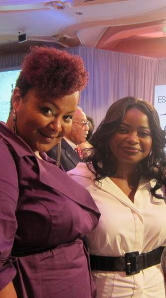 The Curvy Fashionista with Octavia Spencer at The Essence Black Women in Hollywood Luncheon