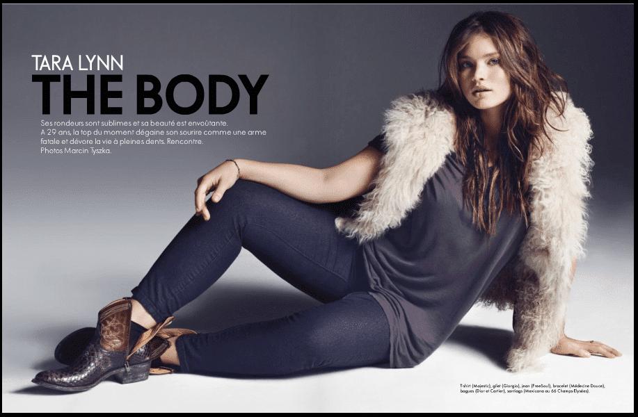 Tara Lynn on the Cover of Elle France