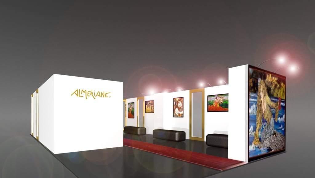 Almeriane Booth at WWD MAGIC in Las Vegas