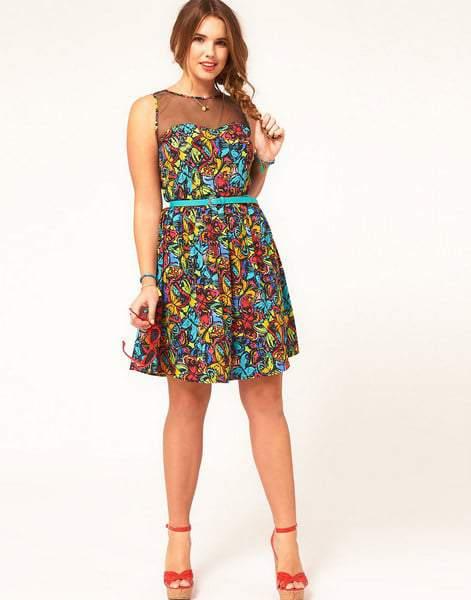 ASOS Curve Butterfly Dress