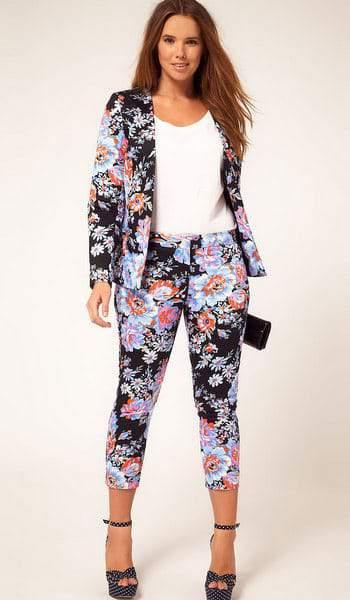 ASOS Curve Floral Suit