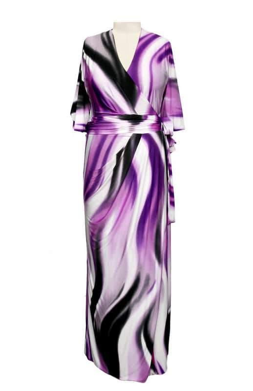 The Queen Grace April Dress in Purple Rain Print