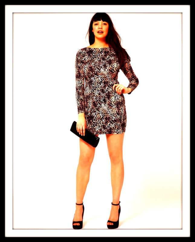 Asos Curve Mini Body-Conscious Dress In Leopard Print