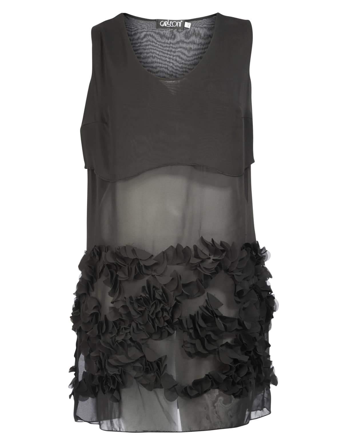 Carleoni Chiffon Plus Size Sheer Dress from Navabi