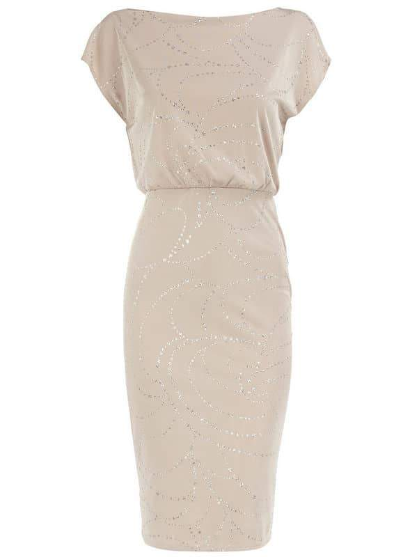 Dorothy Perkins White Glitter Dress