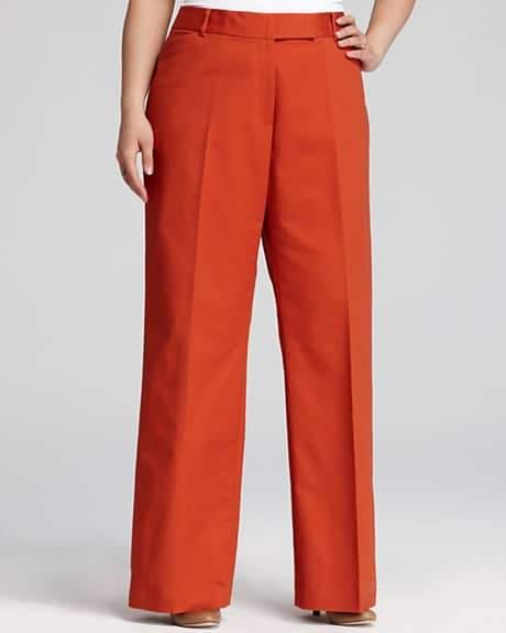 I Gotta Have it: Tahari Plus Size Carlina Pants in Orange
