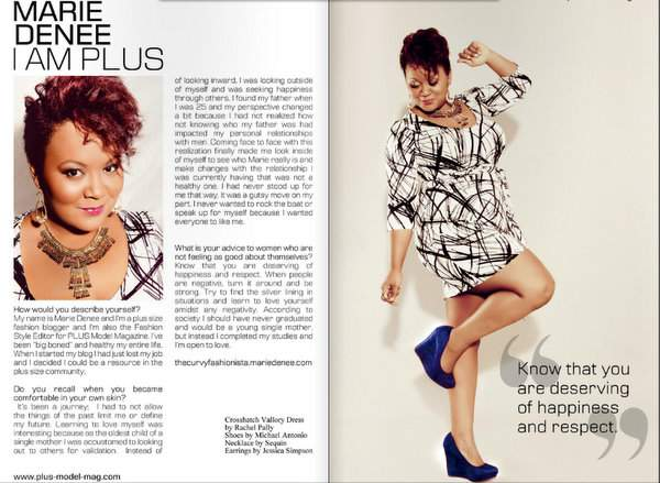 The March Issue of Plus Model Mag: I Am Plus Editorial