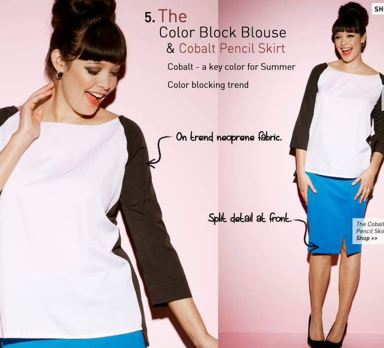 Simply Be Color Block Top and Cobalt