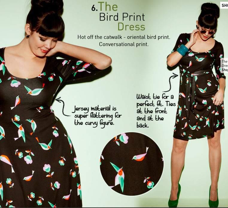 Simply Be Bird Print Dress