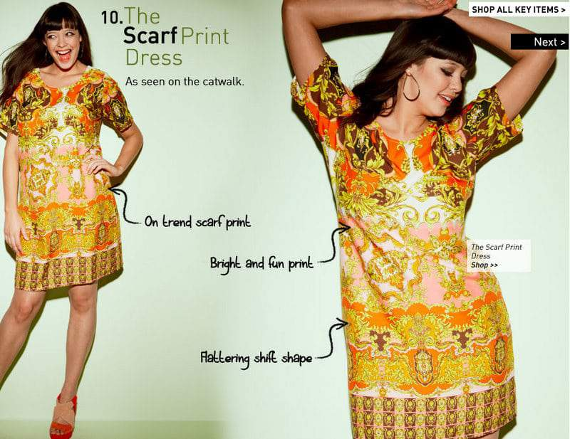 Simply Be Silk Scarf Print Dress