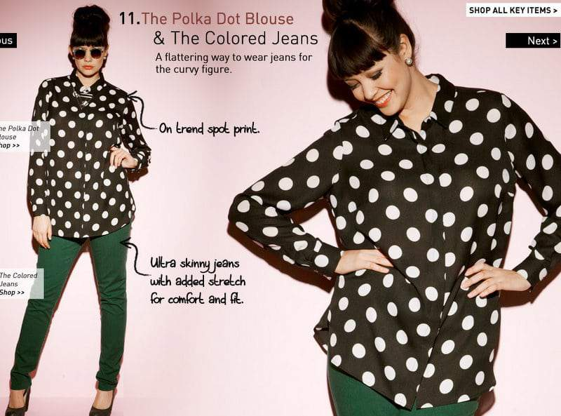 Simply Be Polka Dot Top