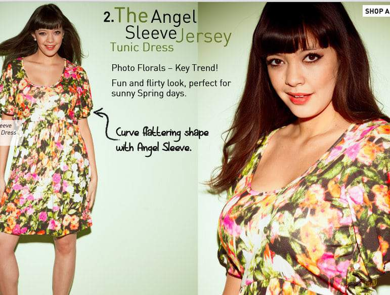 Simply Be Floral Tunic Dress