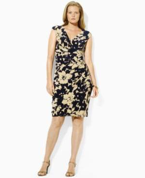 Lauren by Ralph Lauren Floral Cap Sleeve Dress