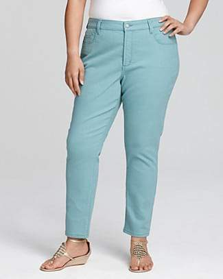 Spring 2012 Plus Size Trends: Colored Denim