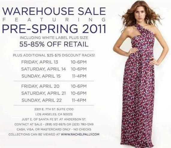 Rachel Pally Pre-Spring 2012 Sample Sale